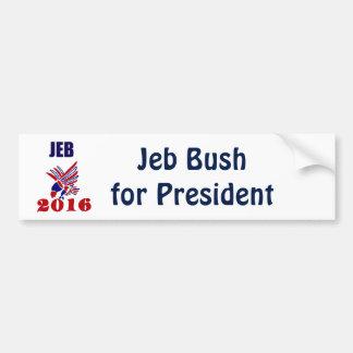 Jeb Bush für Präsidenten Political Art Autoaufkleber