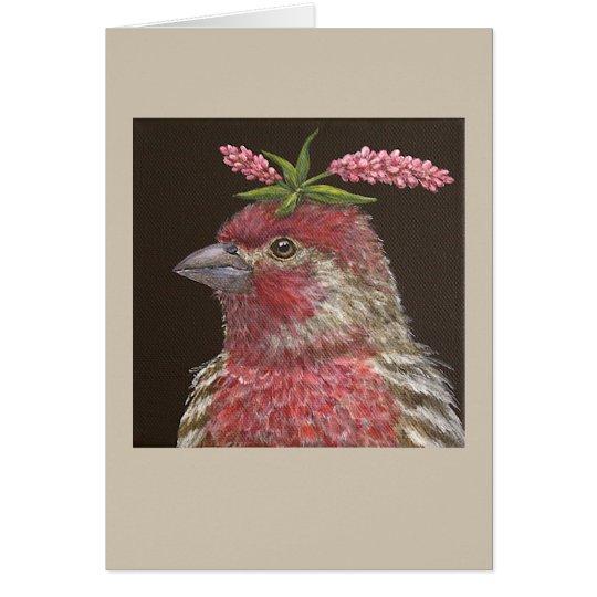 Jeb die Hausfink-Grußkarte Grußkarte