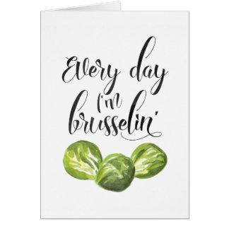 Jeden Tag bin ich Brusselin, Karte