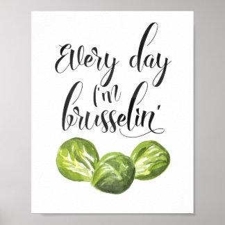 Jeden Tag bin ich Brusselin Plakat