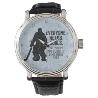 Jeder benötigt Ziele (Hockey) Armbanduhr