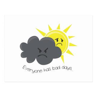 Jeder hat schlechte Tage Postkarte