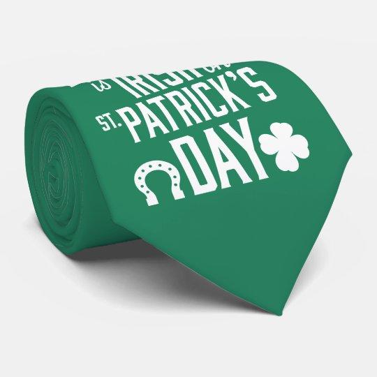 Jeder ist auf Grün-Krawatten St. Patricks Bedruckte Krawatten