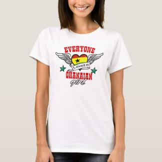 Jeder Lieben ein ghanaisches Mädchen T-Shirt