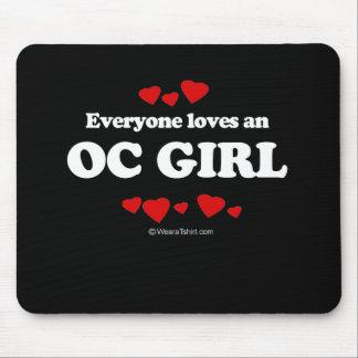 Jeder Lieben ein OC-Mädchen-T - Shirt Mousepads