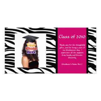 Jeder möglicher Year~ Zebra-Abschluss danken Photokartenvorlage