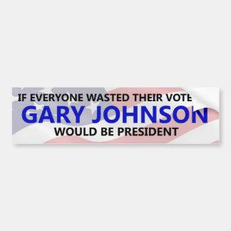 Jeder muss ihre Abstimmung auf Gary Johnson Autoaufkleber
