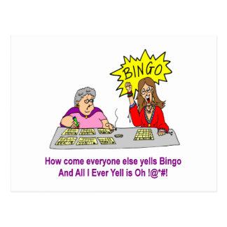 Jeder schreit sonst Bingo Postkarte