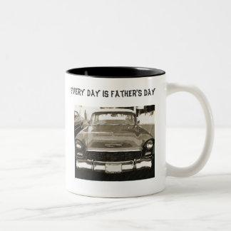 Jeder Tag ist der Vatertag 55 Chevy Schwarzes u
