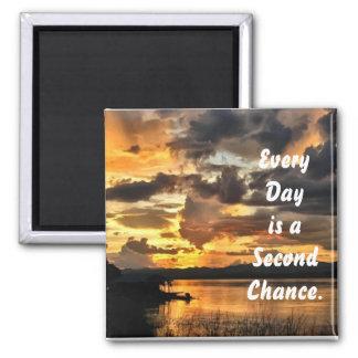Jeder Tag ist eine zweite Chance Quadratischer Magnet