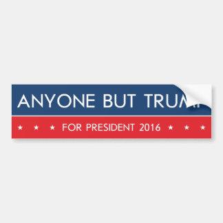 Jedermann aber Trumpf für Präsidenten 2016 Autoaufkleber