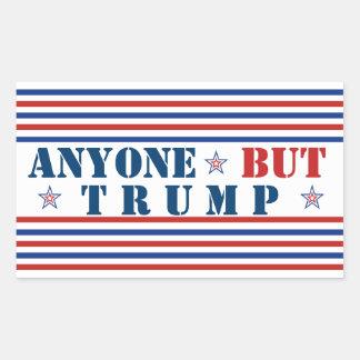 Jedermann aber Trumpf-Wahl Anti-Trumpf 2016 Rechteckiger Aufkleber