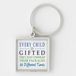 Jedes autistische Kind ist begabt Schlüsselanhänger