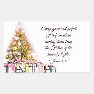 Jedes gute und perfekte Geschenk-James-1:17, Rechteckiger Aufkleber