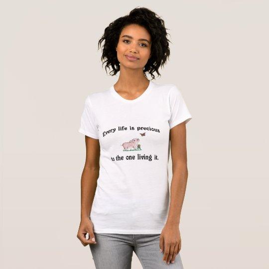 JEDES LEBEN IST WERTVOLLES niedliches T-Shirt