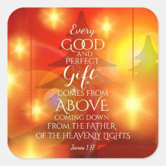Jedes perfekte Geschenk kommt von oben, Quadratischer Aufkleber