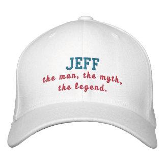 Jeff der Mann Bestickte Baseballkappe