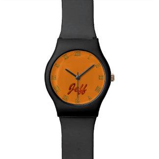 JEFF Name-Brannte kundengerechtes Armbanduhr