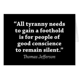 Jefferson: Bleiben Sie nicht still Karte