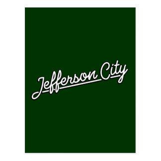 Jefferson city im Weiß Postkarte