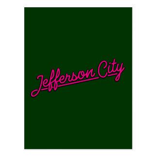 Jefferson city in der Magenta Postkarte