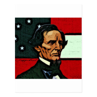 Jefferson Davis, Präsident des Confederacy Postkarte