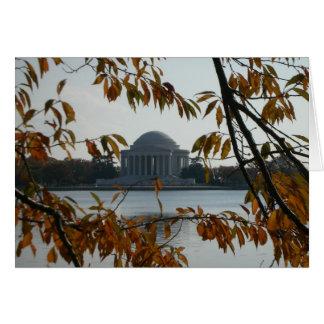 Jefferson-Denkmal im Fall Karte
