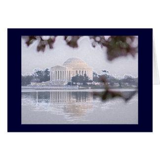 Jefferson-Denkmal reflektiert im Gezeiten- Becken Karte
