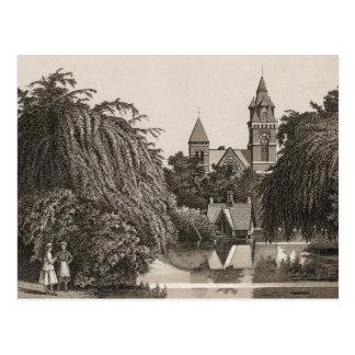Jefferson Park Chicago, Mirror Lake  (c. 1880) Postkarte