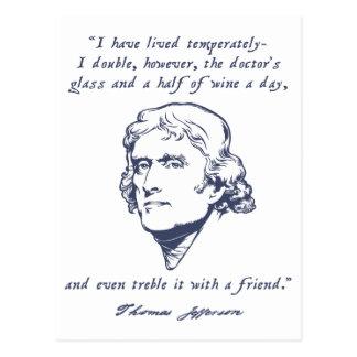 Jefferson - Wein Postkarte
