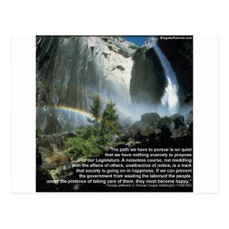 Jefferson-Zitat über begrenzte Regierung Postkarte