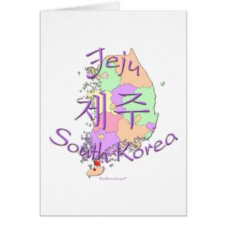 Jeju Südkorea Karte