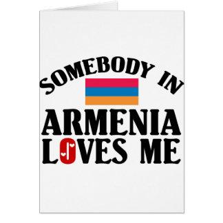 Jemand in Armenien Karte