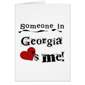 Jemand in Georgia-Lieben ich Karte