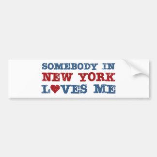 Jemand in New- YorkLieben ich Autoaufkleber
