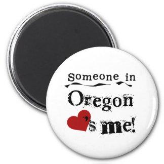 Jemand in Oregon-Lieben ich Runder Magnet 5,1 Cm