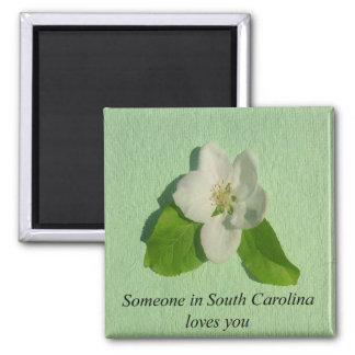 Jemand in South- CarolinaLieben Sie Apple-Blüte Quadratischer Magnet