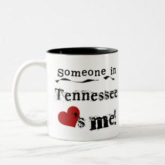 Jemand in Tennessee-Lieben ich Zweifarbige Tasse