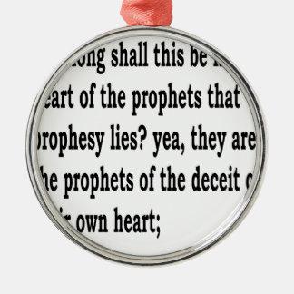 Jer. 23:26 silbernes ornament