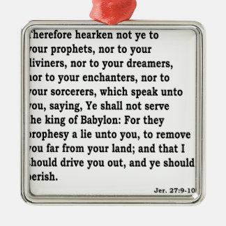 Jer. 27:9 - 10 silbernes ornament