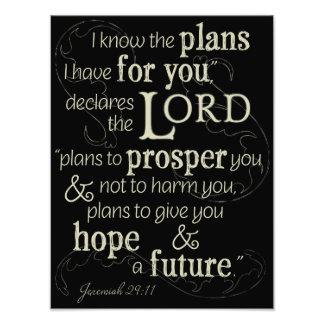 Jeremias-29:11 kenne ich die Pläne, die ich für Fotodruck
