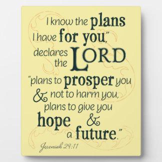 Jeremias-29:11 kenne ich die Pläne, die ich für Schautafel