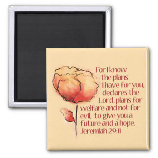 Jeremias-29:11 Magnet -- Für kenne mich die Pläne…