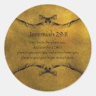 Jeremias-29:11 Runder Aufkleber