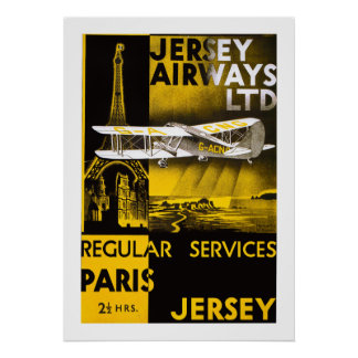 Jersey-Fluglinien Poster