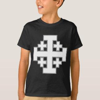 Jerusalem-Kreuz-Weiß T-Shirt