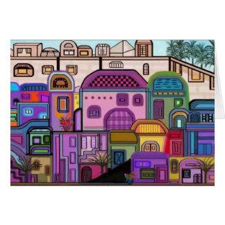 Jerusalem-Tapisserie Rosh Hashanah Karte