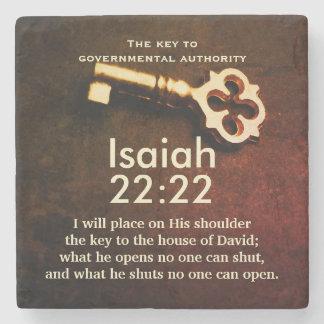 Jesaja-22:22 Schlüssel zum Haus des Steinuntersetzer
