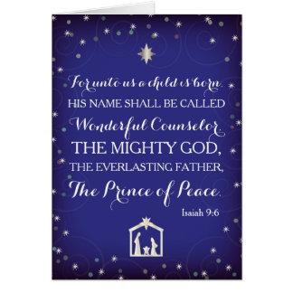 Jesaja-9:6 für an uns ist ein Kind geboren Karte