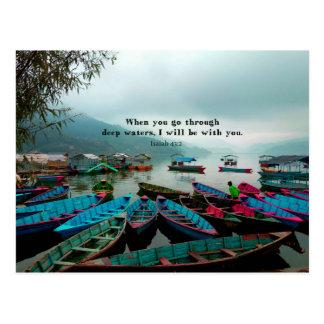 Jesaja-Bibel-Vers-Schrifts-Kunst Postkarte